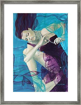 Working On A Dream - Loose Pearls Framed Print by Dorina  Costras