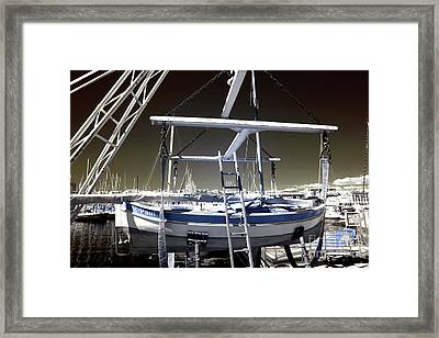 Working On The Boat Framed Print by John Rizzuto