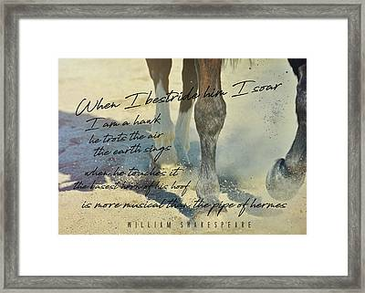 Working Tempo Quote Framed Print by JAMART Photography