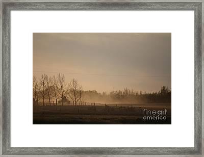 Framed Print featuring the photograph Working The Field by Wilko Van de Kamp