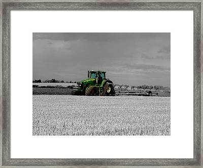 Working The Fields Framed Print