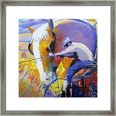 Working The Land Framed Print by Gregg Caudell