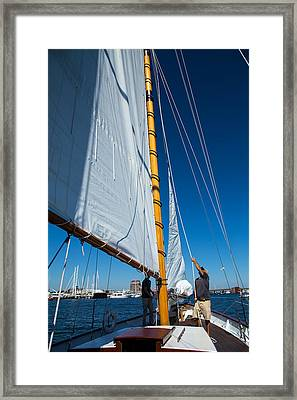 Working The Sails Framed Print