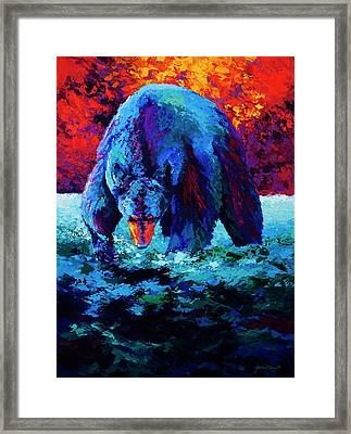 Working The Shallows Framed Print by Marion Rose