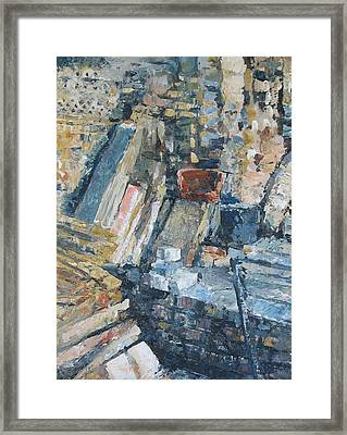 Working To Abstraction Framed Print
