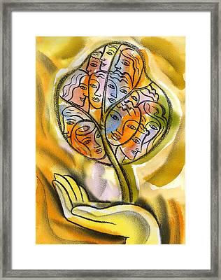 Working Together Framed Print by Leon Zernitsky