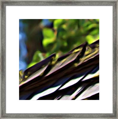 Working Toward Abstraction Framed Print by Shawn Wallwork