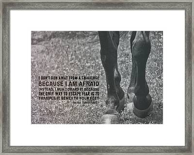 Working Trot Quote Framed Print by JAMART Photography