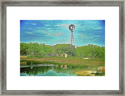 Framed Print featuring the photograph Working Windmill  by Ray Shrewsberry