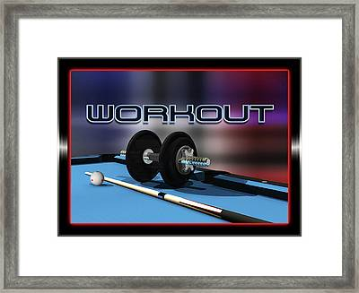 Workout Framed Print by Draw Shots