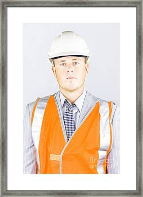 Workplace Health And Safety Officer Framed Print by Jorgo Photography - Wall Art Gallery