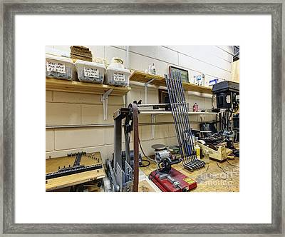 Workshop For Manufacturing Golf Clubs Framed Print by Skip Nall