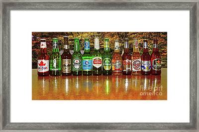 World Beers By Kaye Menner Framed Print