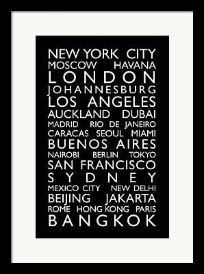 City Bus Digital Art Framed Prints