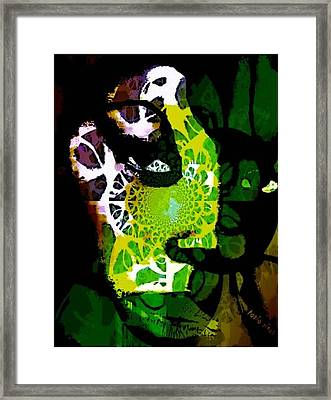 Framed Print featuring the mixed media World Citizen - Voyageur Solitaire by Fania Simon