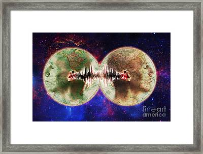 World Communications Framed Print by George Mattei