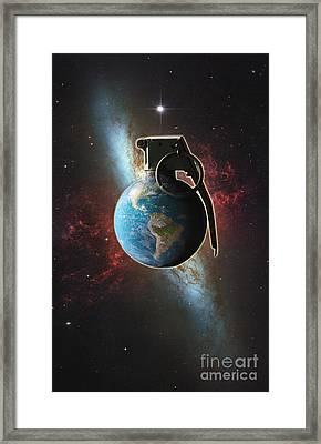 World Conflict Framed Print by George Mattei