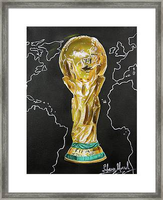 World Cup Trophy Framed Print by Shawn Morrel