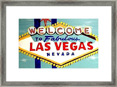 World Famous Las Vegas Sign Daytime Framed Print by Teo Alfonso