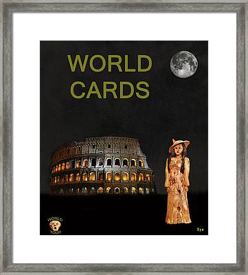 World Fashion Framed Print
