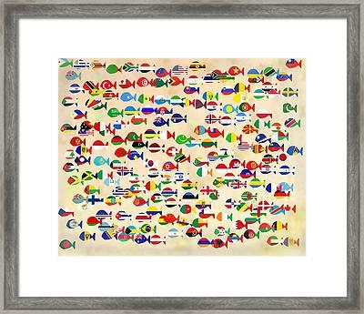 World Fishes Framed Print