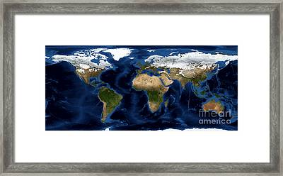 World From Above Framed Print by Jon Neidert