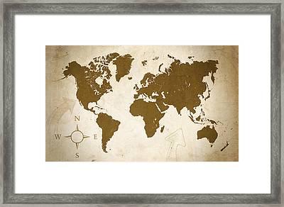World Grunge Framed Print by Ricky Barnard