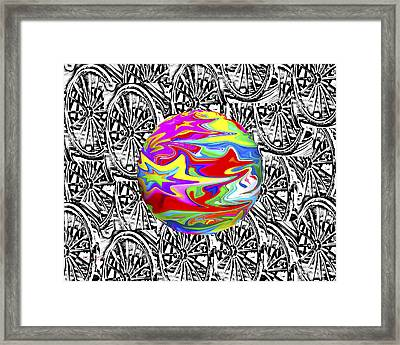 World Hub Framed Print by Betsy Knapp