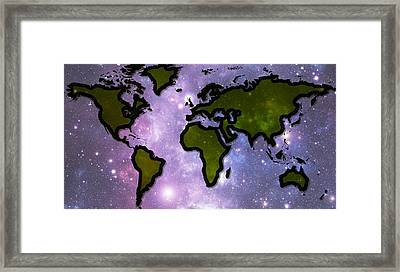 World In Space Framed Print