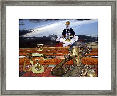 World Is Being Ruled By Phones Framed Print by Pierre Dumas