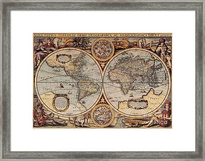 World Map 1636 Framed Print