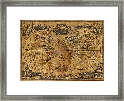 World Map 1788 Framed Print by Kitty Ellis