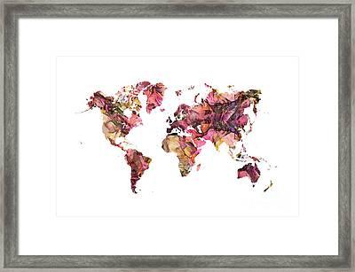 World Map 2028 Framed Print
