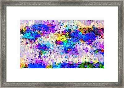 World Map Abstract 2 - Da Framed Print