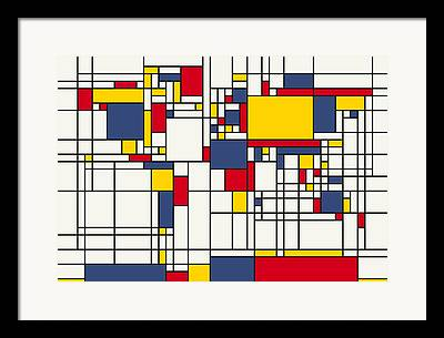 Cubist Digital Art Framed Prints