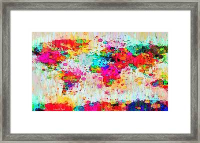 World Map Abstract - Pa Framed Print