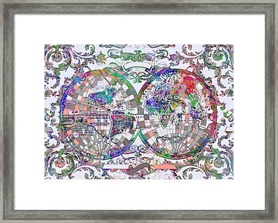 World Map Antique 1 Framed Print