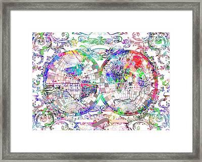 World Map Antique 10 Framed Print