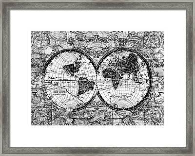 World Map Antique 12 Framed Print