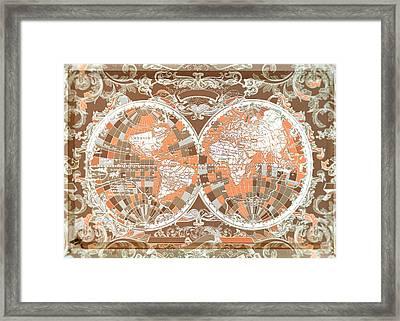 World Map Antique 2 Framed Print