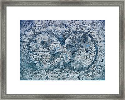 World Map Antique 5 Framed Print