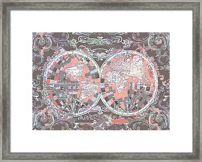 World Map Antique 7 Framed Print
