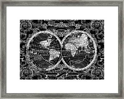 World Map Antique 8 Framed Print