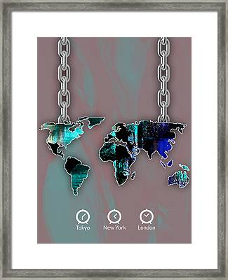 World Map Collection Framed Print by Marvin Blaine