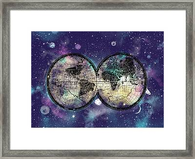 World Map Galaxy 1 Framed Print