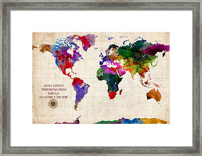 World Map Framed Print by Gary Grayson