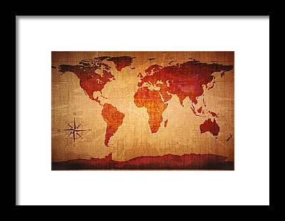 Ancient world map art fine art america ancient world map framed prints gumiabroncs Gallery