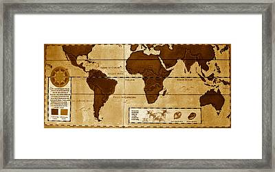World Map Of Coffee Framed Print by David Lee Thompson