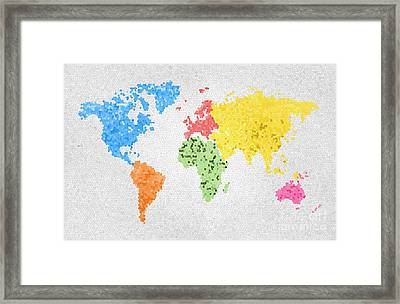 Treasure map framed art prints fine art america world map on stained glass framed print gumiabroncs Choice Image