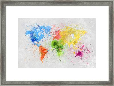 World Map Painting Framed Print by Setsiri Silapasuwanchai